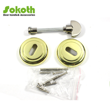 SOKOTH gold plating key hole round zamac door knob