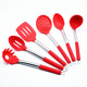 HFHT5202 quality chinese products food contact Silicone utensils set red kitchen tools/kitchen accessories/kitchen tools set