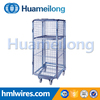 Sample china metal mesh storage roll cage/container