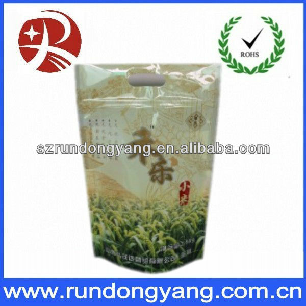 Stand up snack food ziplock plastic packaging bags for nuts