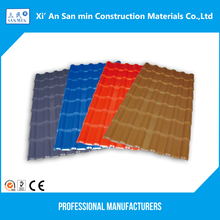 Flat or waves color stone coated metal synthetic resin roofing tile aluminum shingles
