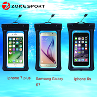 2016 popular best selling clear window cell phone floating waterproof case for Swimming