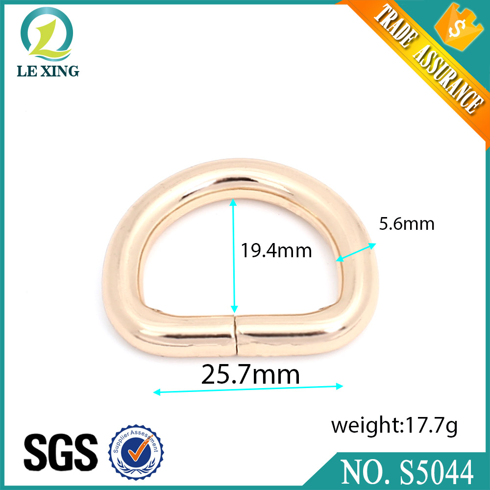 Wholesale high polished custom hardware accessories metal 25 mm bag handbag d ring