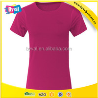 Wholesale pink t shirts quick dry sports apparel t shirts sports women tee manufacturers in china