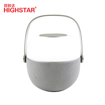 Portable led camping lantern wireless fashion speaker with power bank