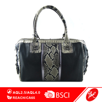 Fashion Snake Skin PU Weekend Bag