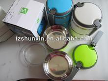 divided plastic food container stainless steel inner with lock lid