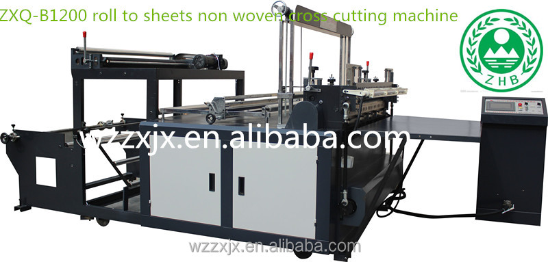 producers made cheap non woven roll fabric bias cutting machine