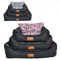 Factory wholesale denim pet waterproof three-piece bed for dog