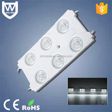 Super brightness 3w led module 12v with 6 waterproof smd 2835 led injection module for light box