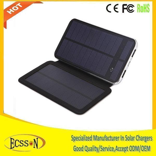 2016 high quality solar power bank for smartphone , 10000mAh cheap price solar power bank charger for tablet pc