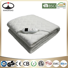 Cotton Fabric Skin Health Quilting Electric Heated mattress pad