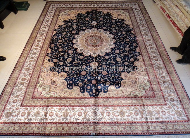 Handknotted bamboo and wool silk carpets handmade in China Better Carpet Factory