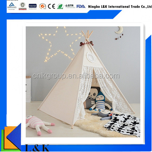 Kids teepee tipi indian tent cotton canvas camping outdoor