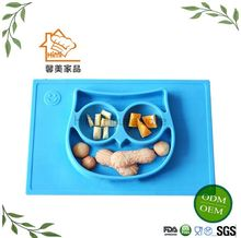 HIMI Silicone Grip Dish,Silicone Kids Strong Suction Base ,Feeding Plate