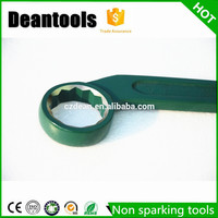 Factory direct sale Antispark safety tool bent handle spanner Striking box end wrench