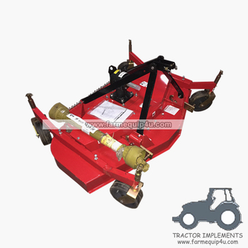 Tractor 3-Point Finishing Mower with adjustable rubber wheel 4ft