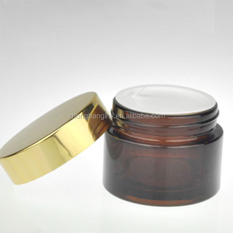 Hot sale high quality amber cosmetic glass bottle for body lotion