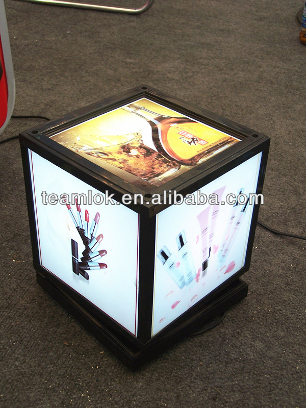 LED acrylic photo/pictures cube display frame