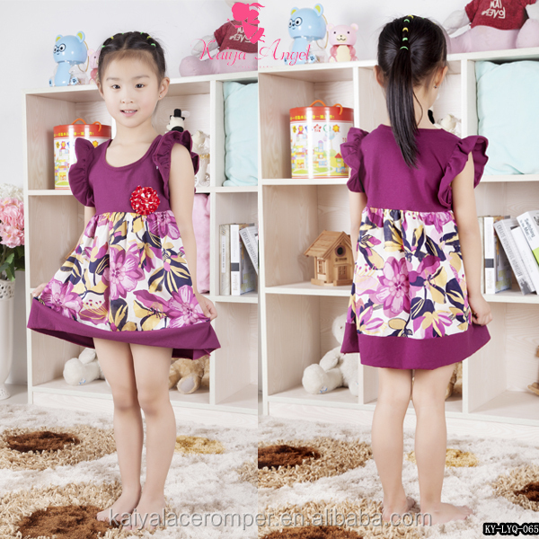 kids simple cotton frock design baby children frock nice casual dress design for 6 years old girl
