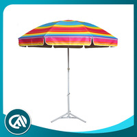 Wholesale Beach 12 ribs fashion fold rainbow color umbrella