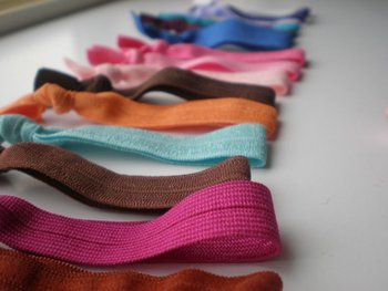 Wholesale elastic hairbands solid colors hair tie