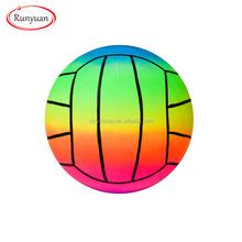 beach volleyball ECO-friendly material RUNYUAN PVC Inflatable rainbow beach ball