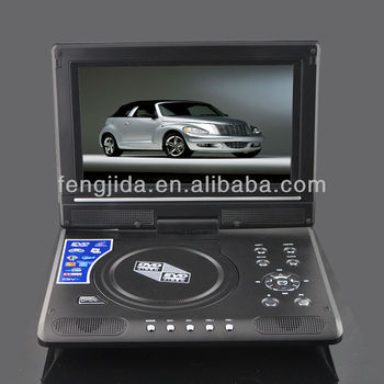 9'' portable dvd player support SD MCC MS Card