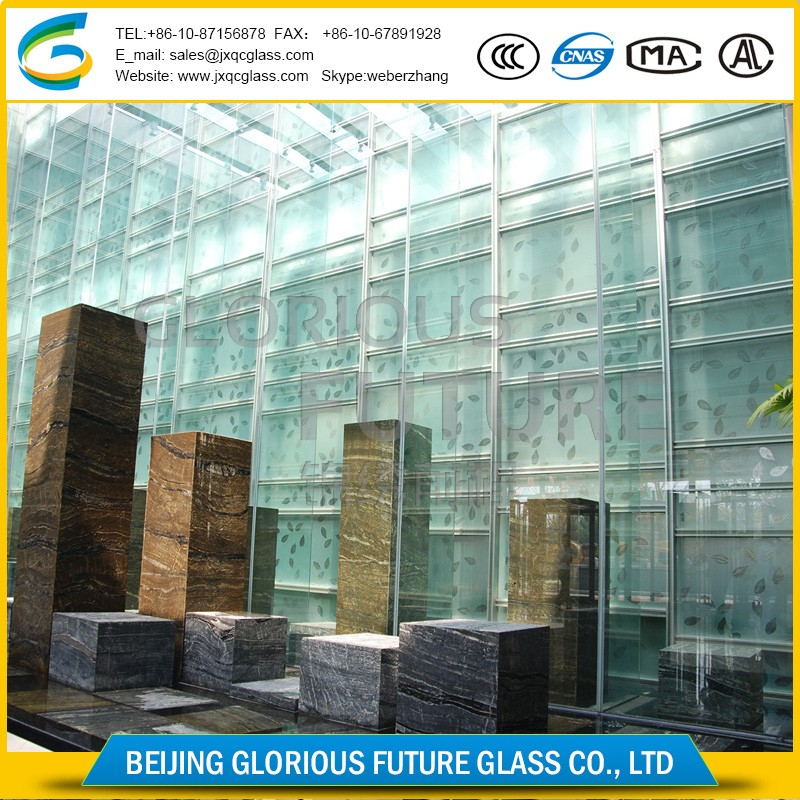 High security building glass PVB SGP 15mm tempered laminated glass door