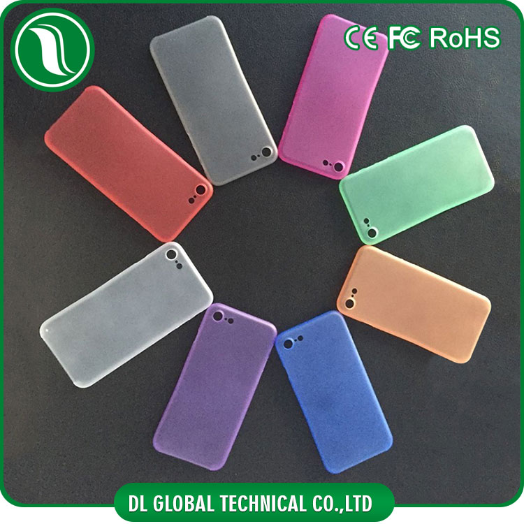 New coming colorful soft matte cover for iphone 7 full cover pp case