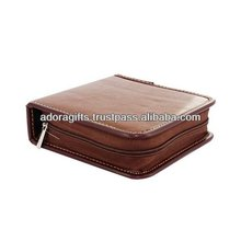 modern leather cd case with cheap price / wedding dvd case leather / leather cd dvd carrying case bag