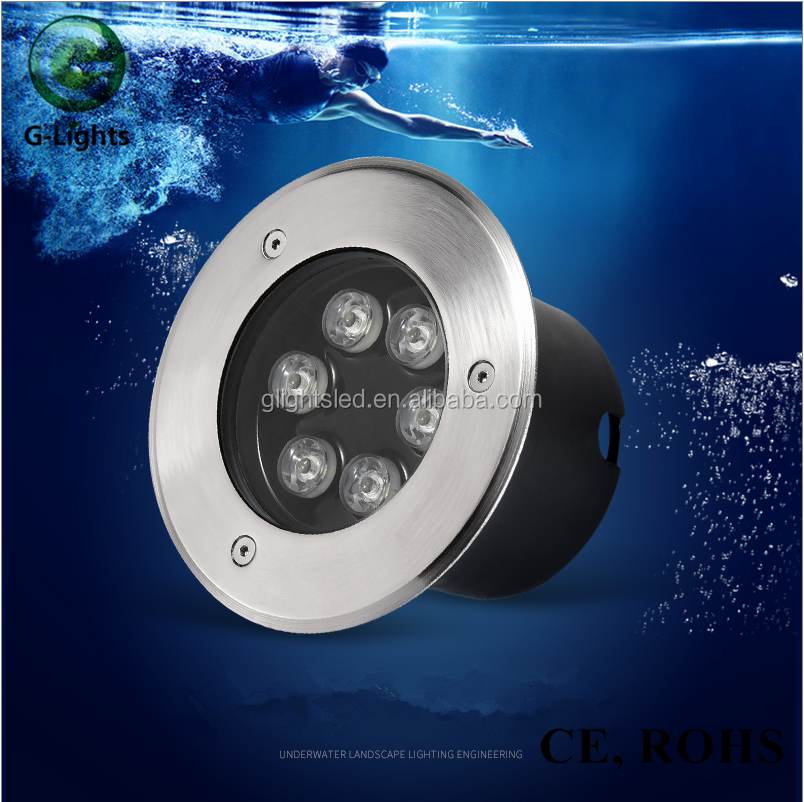 Factory Direct Sale 6W RGB Pool Lamp IP68 LED Underwater Light