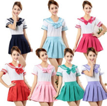 Japanese sailor suit Girls High school student uniform COSPLAY ,short sleeve JK uniform custom costuming clothing