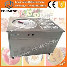 Double flat Pan Thailand Roll Fried Ice Cream Machine / Ice Cream Cold Plate / Fry Ice Cream Machine