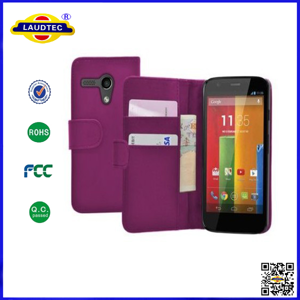 custom cute wallet leather cover case for moto g
