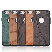 Leather cellphone cover with TPU edge for iPhone 6/6s