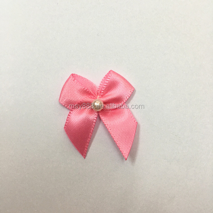 Hot Sale Satin Ribbon Bows For Doll Retail Packaging Decorative Fabric Flowers