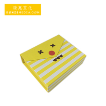 High quality beautiful lovely girls love light yellow color luxury square with ribbon packaging printing gift paper box