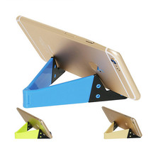 High quality plastic aluminum desktop mobile phone stand holder foldable cell phone stand