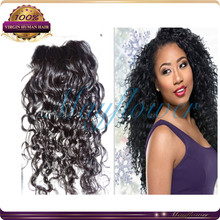 curly silk base closure Brazilian loose curl top closures ombre/dark/light colors closure hidden knots
