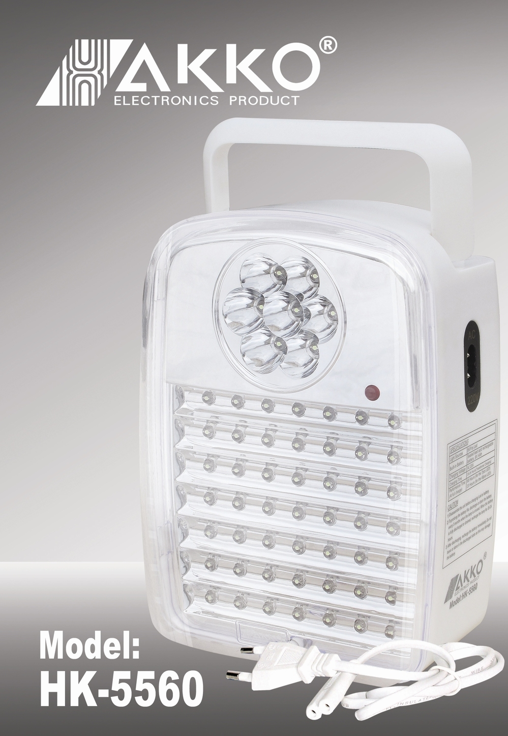220V Rechargeable Portable Emergency lights with 56pcs LED