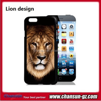 cell phone lion 3d plastic case cover for iphone 6