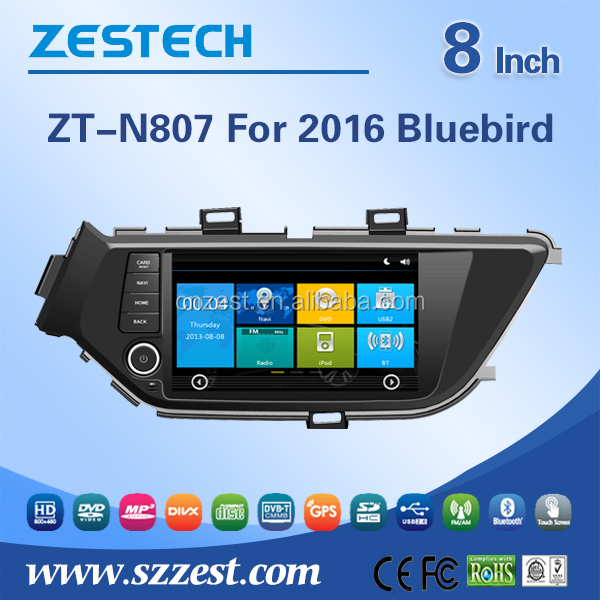 ZESTECH CE/FCC/RoHS certification car audio system for Nissan Lannia/Bluebird/Sylphy 2016 car radio player with car dvd gps 3G