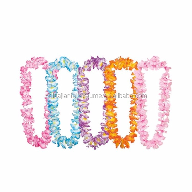 Colorful plastic garland, party flower leis