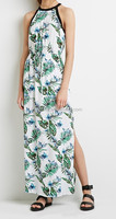 Newest Fashion Trendy Tropical Printed Maxi Dress of summer 2015 bohemian style clothing
