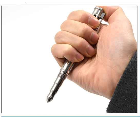 high grade titanium alloy writing pen with acrylic pole , survival multi tool