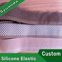 Custom Silicone Gripper Non Slip Elastic Waistband for Compression Stockings