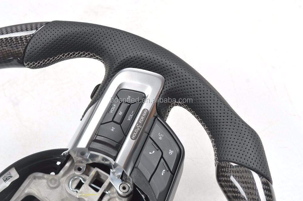 100% Real Carbon fiber/Leather Mustang Steering Wheel For Ford Mustang