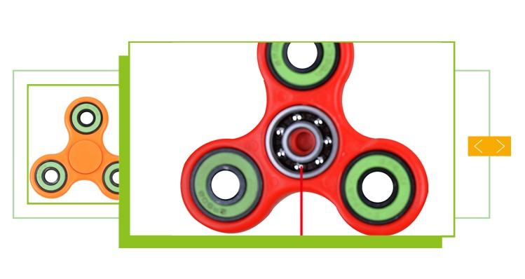 Wholesale cheap fidget toy gyroscope lihgt up finger spinning top