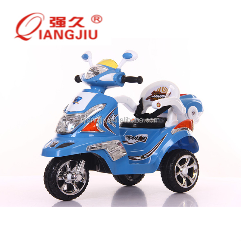 Remote control electric motorcycle for kids to ride on toy with 3 wheels